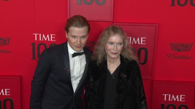 mia farrow and ronan farrow at time 100 most influential people in the world at jazz at lincoln center on april 23 2019 in new york city - mia farrow stock videos & royalty-free footage