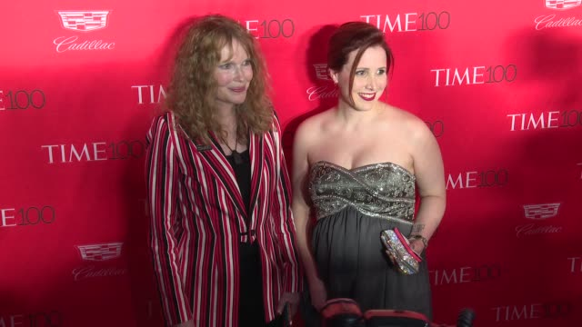 mia farrow at 2016 time 100 gala time's most influential people in the world red carpet at jazz at lincoln center on april 26 2016 in new york city - mia farrow stock videos & royalty-free footage