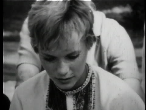 mia farrow sits on the ground and listens to maharishi mahesh yogi speak / uttar pradesh india - mia farrow stock videos & royalty-free footage