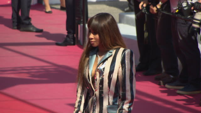 mia frye at image book' red carpet arrivals the 71st annual cannes film festival at palais des festivals on may 11 2018 in cannes france - livre stock videos & royalty-free footage