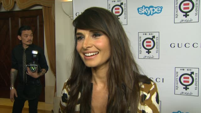 interview mia maestro on why she wanted to support equality now and why salma hayek is so deserving of the honor at equality now's make equality... - salma hayek stock videos and b-roll footage