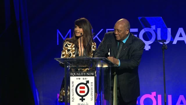 speech mia maestro quincy jones at equality now's make equality reality event in los angeles ca - quincy jones stock videos & royalty-free footage