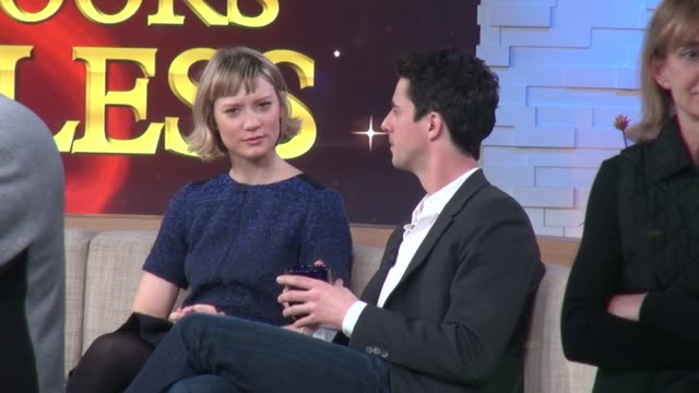mia wasikowska and matthew goode on the set of good morning america in new york ny on 2/28/13 - matthew goode stock videos & royalty-free footage
