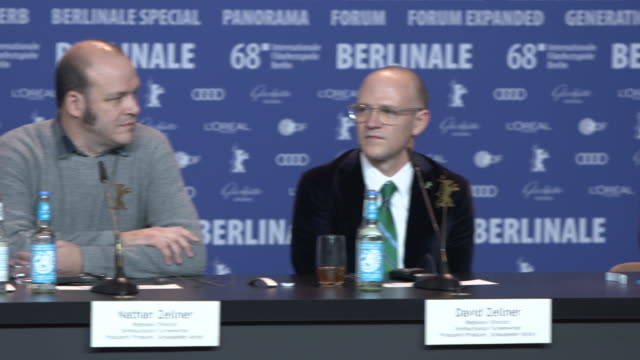 INTERVIEW Mia Wasikowska and Robert Pattinson talks about #MeToo at 68th Berlin Film Festival 'Damsel' Press Conference at Grand Hyatt on February 16...
