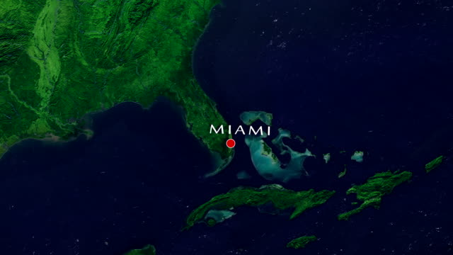miami 4k zoom in - florida usa stock videos and b-roll footage