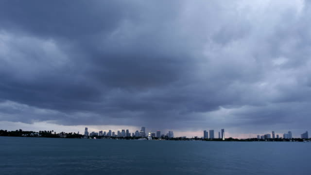 Miami bei Sonnenuntergang Zeitraffer