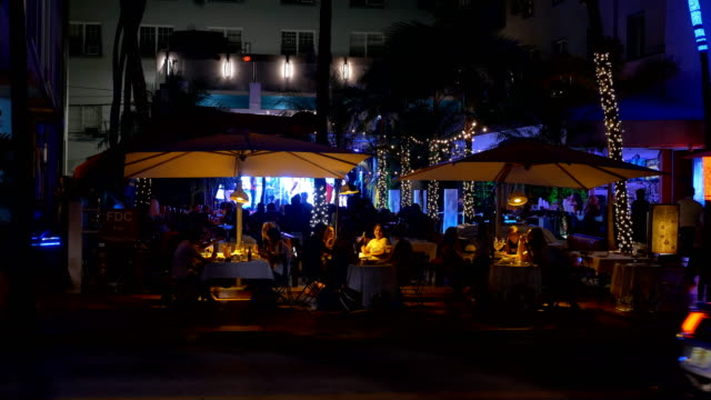 miami beach eat out - nightlife stock videos & royalty-free footage