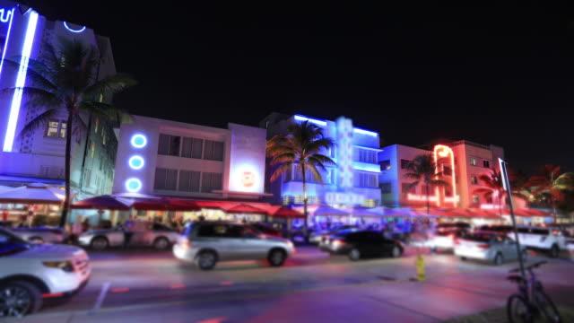 マイアミビーチ(フロリダ州) - オーシャンドライブ点の映像素材/bロール