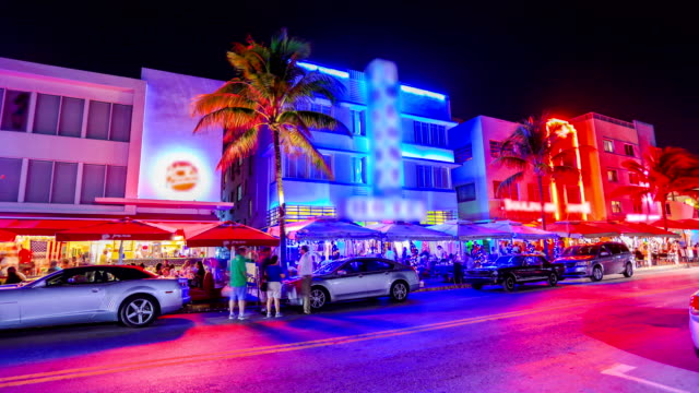 マイアミビーチ、フロリダ州 - サウスビーチ点の映像素材/bロール