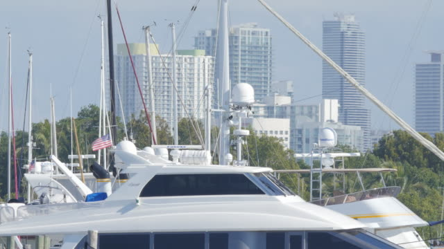 Miami beach marina is in the south of Florida it is a host of hundreds of yachts and small boats from all of the world