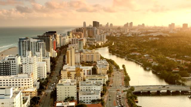 Miami Beach zonsondergang Panorama