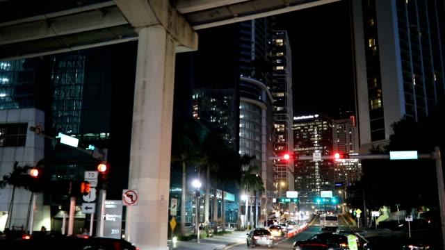miami city life - crossroad stock videos & royalty-free footage