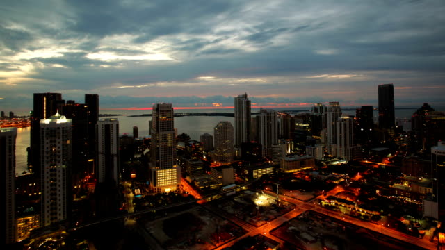 miami, cloudy morning time lapse - miami stock videos & royalty-free footage