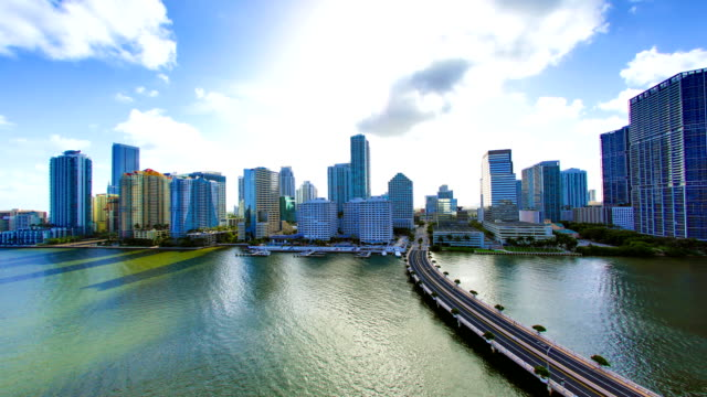 miami, fl - biscayne bay stock-videos und b-roll-filmmaterial