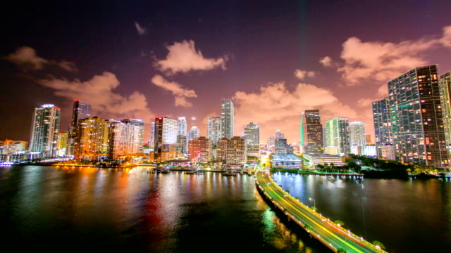 miami - biscayne bay stock-videos und b-roll-filmmaterial