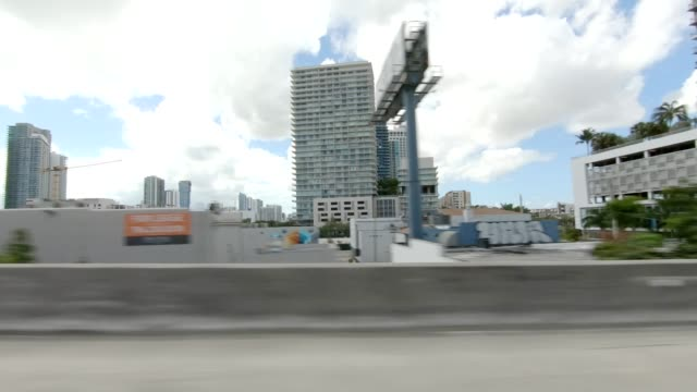 miami highway iii synced series right view driving process plate - passenger point of view stock videos & royalty-free footage