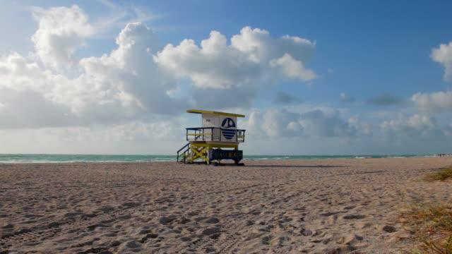 マイアミ監視員の家 - オーシャンドライブ点の映像素材/bロール