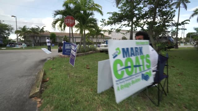 miami residents go to the polls to cast their votes in florida's state primary election on august 18, 2020. republican and democratic primary... - miami stock videos & royalty-free footage