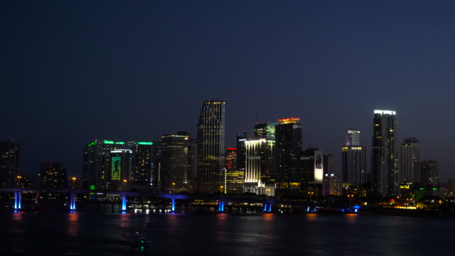 miami skyline - establishing shot stock videos & royalty-free footage