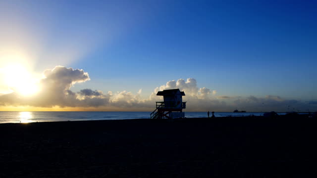 Miami South Beach Sunrise Time Lapse
