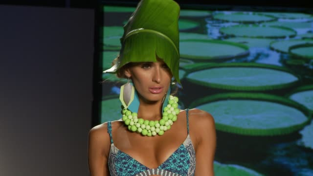 miami swim fashion week ss13 xtra life lycra© on july 22 2012 in miami florida - lycra stock-videos und b-roll-filmmaterial