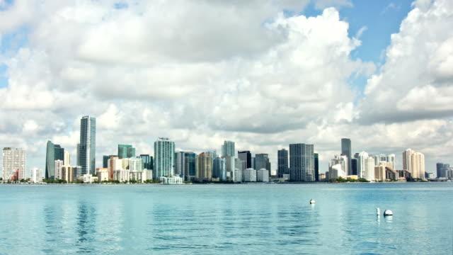 Timelapse-skyline von Miami