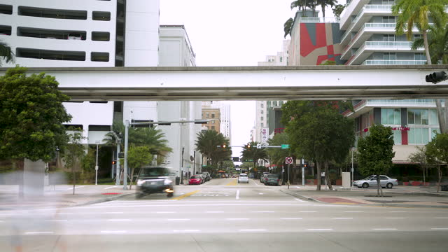 miami traffic / miami, florida, united states - civilian stock videos & royalty-free footage