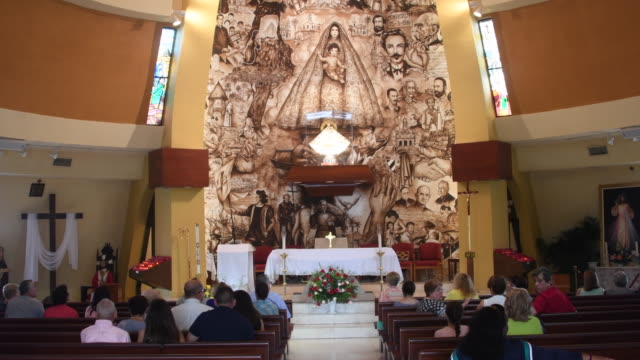 miami, united states: shrine our lady of charity, patroness of cuba - sanctuary city stock videos & royalty-free footage