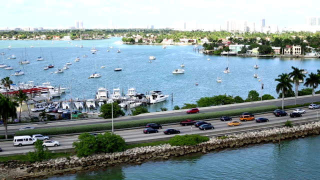 miami - biscayne bay stock videos & royalty-free footage