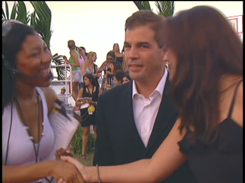 miamidade mayor alex penelas arriving at the 2004 mtv video music awards red carpet - miami dade county stock videos and b-roll footage