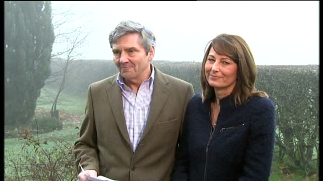 Michael and Carole Middleton reading statement to press SOT Carole and I are absolutley delighted by today's announcement and thrilled at the...