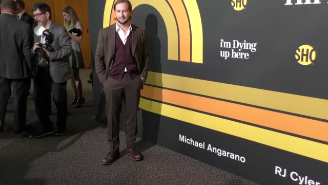 michael angarano at the premiere of showtime's 'i'm dying up here' arrivals on may 31 2017 in los angeles california - showtime video stock e b–roll