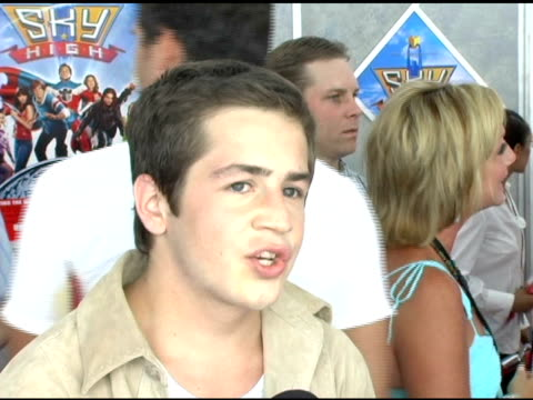 Michael Angarano on being shaken by all the attention at the Premiere the two independent films that he did after 'Sky High' the first one with Ethan...