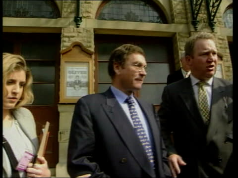 stockvideo's en b-roll-footage met michael ashcroft defends peerage itn harrogate william hague mp speaking ms hague shaking hands with delegates at conservative party spring... - jongensband