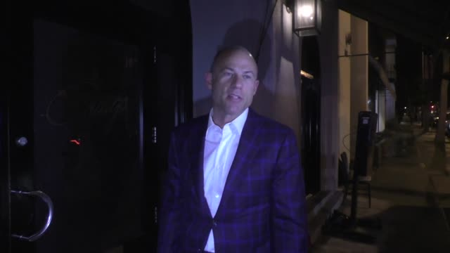 michael avenatti shares his thoughts on r. kelly outside craig's restaurant in west hollywood in celebrity sightings in los angeles, - r. kelly stock videos & royalty-free footage