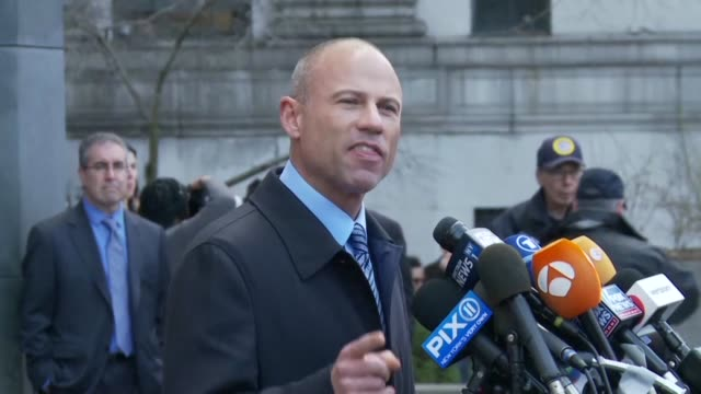 michael avenatti who represented stormy daniels in a lawsuit against us president donald trump has been found guilty of attempting to extort millions... - stormy daniels video bildbanksvideor och videomaterial från bakom kulisserna