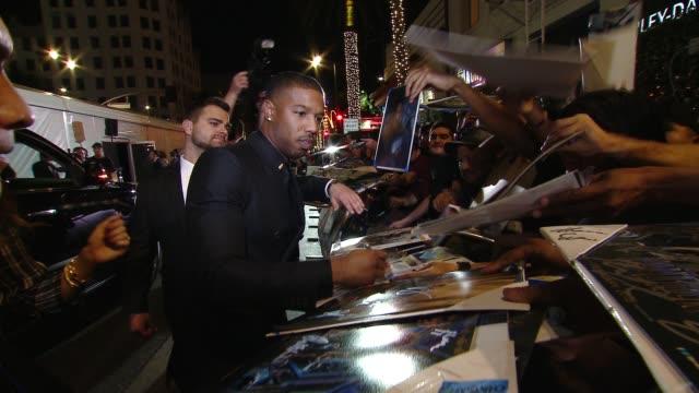 "Michael B Jordan at Marvel Studios' ""Black Panther"" World Premiere in Los Angeles CA"