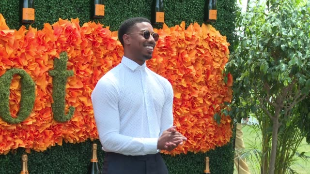 Michael B Jordan at NinthAnnual Veuve Clicquot Polo Classic at Liberty State Park on June 4 2016 in Jersey City New Jersey