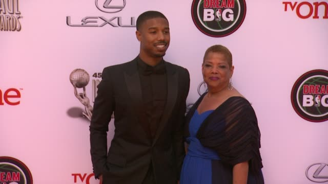 michael b jordan at the 45th naacp image awards arrivals at pasadena civic auditorium on february 22 2014 in pasadena california - neckwear stock videos and b-roll footage