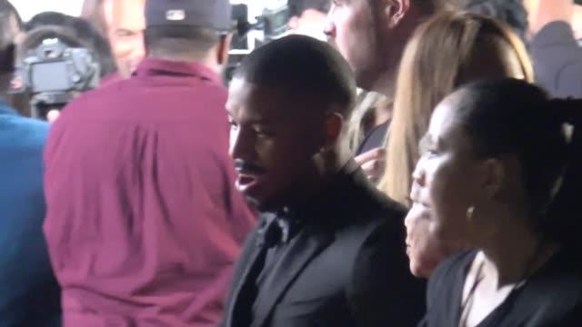 Michael B Jordan at the 49th NAACP Image Awards at Pasadena Civic Auditorium in Pasadena in Celebrity Sightings in Los Angeles