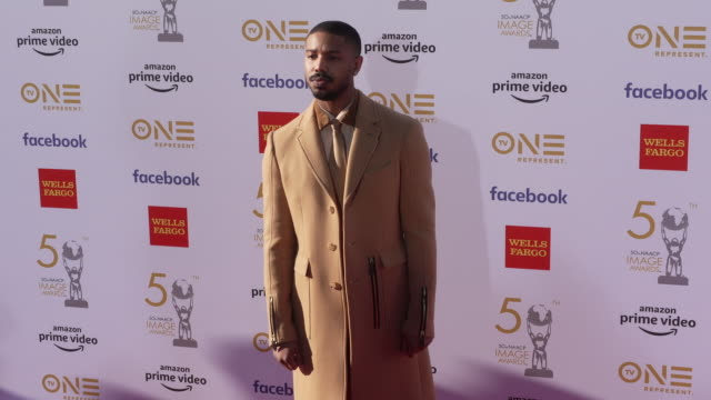 michael b jordan at the 50th naacp image awards at dolby theatre on march 30 2019 in hollywood california - naacp stock videos & royalty-free footage