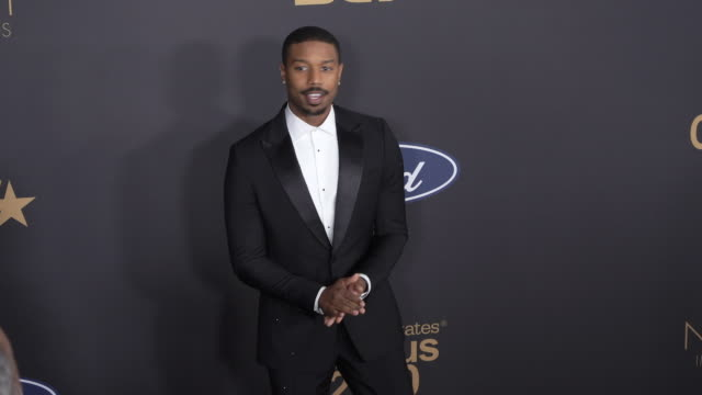 michael b jordan at the 51st naacp images awards - naacp stock videos & royalty-free footage