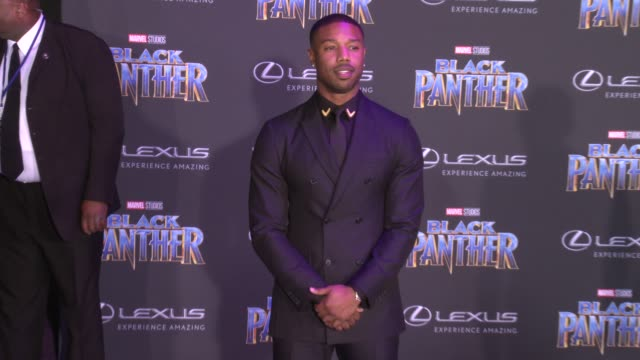 Michael B Jordan at the Marvel Studios' 'Black Panther' World Premiere at Dolby Theatre on January 29 2018 in Hollywood California