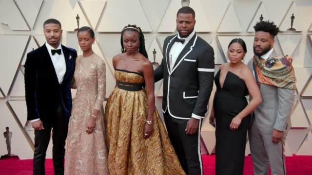 michael b jordan letitia wright danai gurira winston duke zinzi evans and ryan coogler at the 91st academy awards arrivals at dolby theatre on... - ryan coogler stock videos and b-roll footage