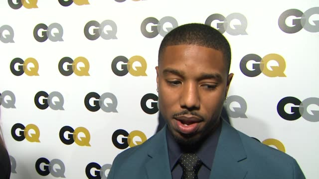 interview michael b jordan on what qualities make a gentlemen at gq men of the year party in los angeles ca on 11/12/13 - interview stock videos & royalty-free footage