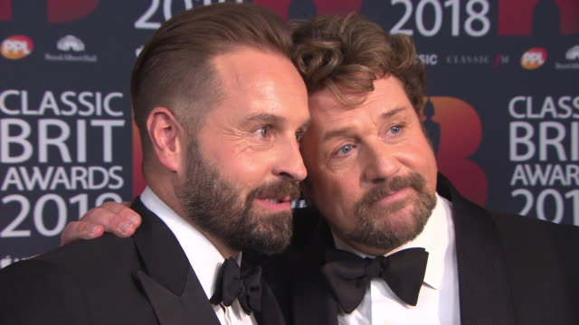 Michael Ball Alfie Boe at The Classic BRIT Awards at Royal Albert Hall on June 13 2018 in London England