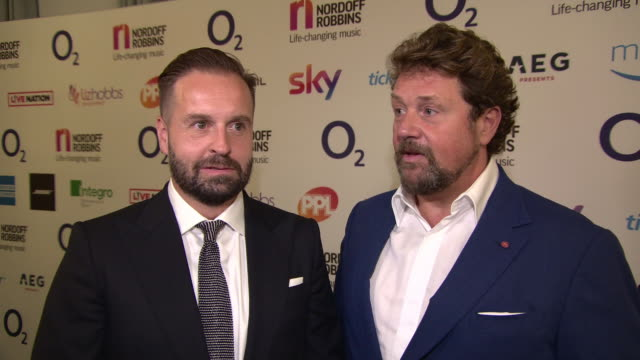 Michael Ball Alfie Boe at the Nordoff Robins 02 Silver Clef Awards at Grosvenor House on July 06 2018 in London England