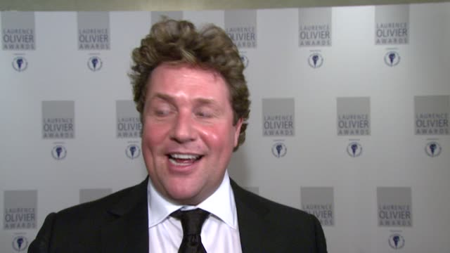 Michael Ball on his role playing a woman and how many people didn't realise that his role in Hairspray was always played by a man at the The Laurence...