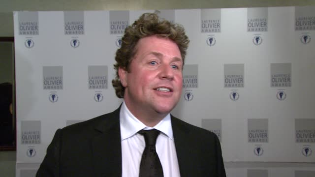 michael ball on how everything about hairspray makes it so great at the the laurence olivier awards at the grosvenor house in london on march 9 2008 - michael ball bildbanksvideor och videomaterial från bakom kulisserna