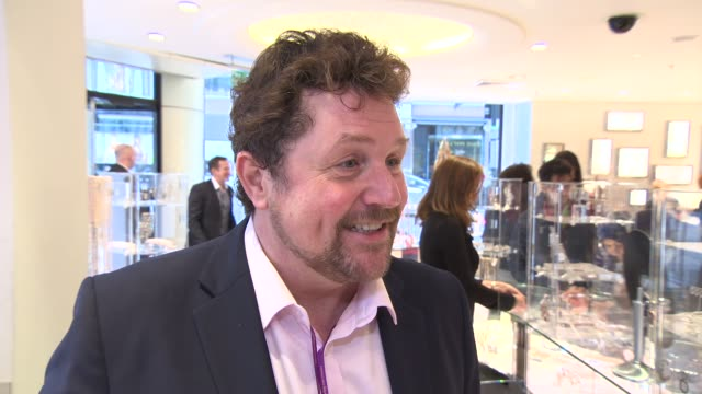 interview michael ball on the importance of the charity 'acting for others' and winning an olivier award at shop with the stars at fenwick on april... - michael ball bildbanksvideor och videomaterial från bakom kulisserna